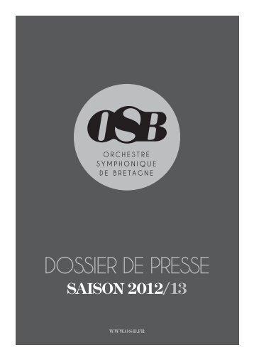 DOSSIER DE PRESSE - Orchestre de Bretagne