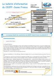 Lettre d'information - octobre 2009 - cioff france