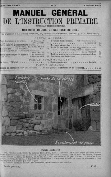 MANUEL GÉNÉRAL DE L'INSTRUCTION PBIMAIRE - INRP