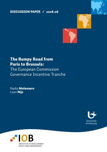 The Bumpy Road from Paris to Brussels: The European Commission ...