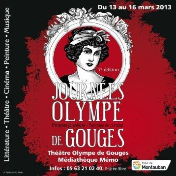 Les Journées Olympe de Gouges - Montauban.com