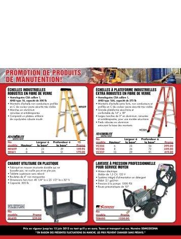 PROMOTION DE PRODUITS DE MANUTENTION! - Produits Linebert