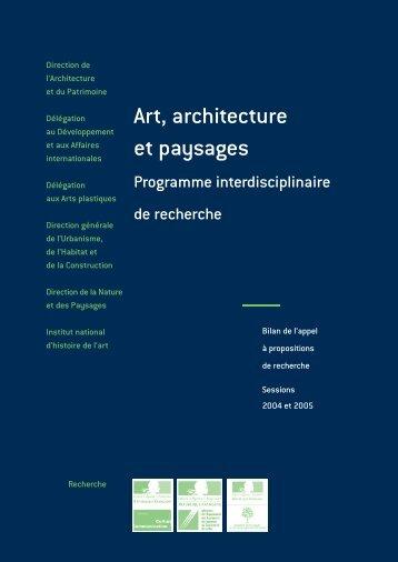 Art, architecture et paysages - Ministère de la culture et de la ...