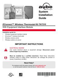 69-2472EF-01 (Aube TA7210 System Installation ... - Ouellet Canada