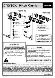 Prorack Hitch Carrier 4 Bike - Rack Attack