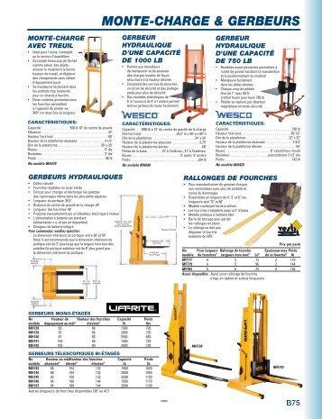 catalogue manutention - MSK Canada