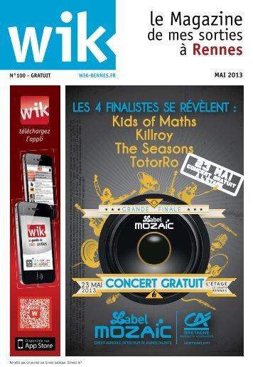 téléchargez le magazine WIK Rennes