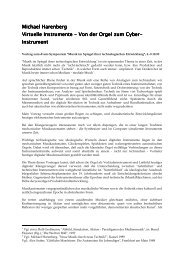 Michael Harenberg Michael Harenberg Virtuelle Instrum ente ...