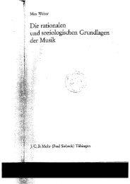 Weber, Max: Die rationalen und soziologischen Grundlagen der Musik
