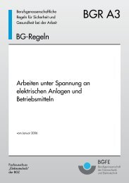 BGR A3 - Arbeiten unter Spannung an elektrischen Anlagen ...