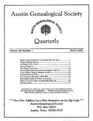 2005 #1 - Austin Genealogical Society