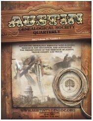 Austin Genealogical Society PO Box 10010 Austin Texas 78766 -1010