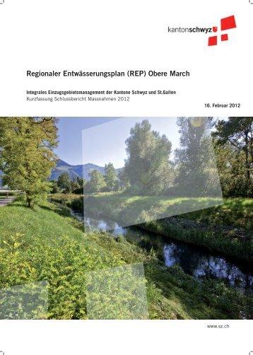 Regionaler Entwässerungsplan (REP) Obere March - Kanton Schwyz