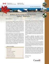 Bulletin d'information en agroforesterie Québec ... - Agri-Réseau