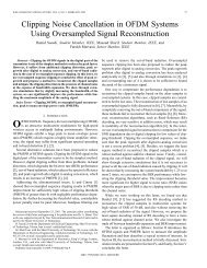 Clipping noise cancellation in OFDM systems using oversampled ...