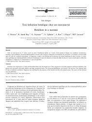 Toxi-infection botulique chez un nouveau-né Botulism in a ... - sepeap