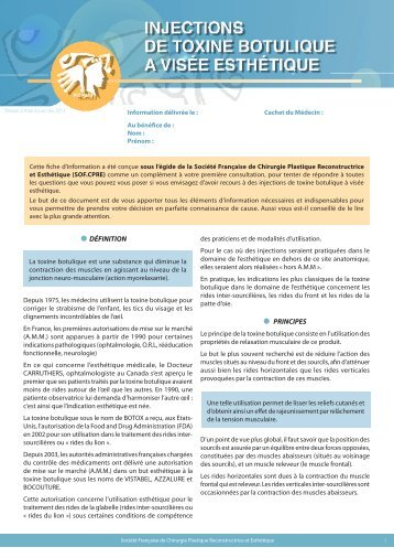 injection de toxine botulique - Dr Dupeyron