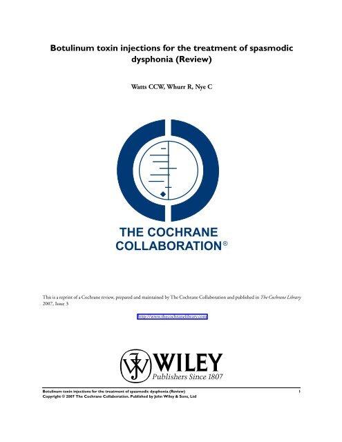 Cochrane Review: BOTOX (pdf)