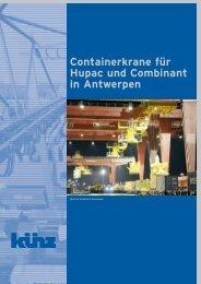 Containerkrane für Hupac und Combinant in Antwerpen
