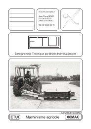 ETUI 06MAC Machinisme agricole - Enseignement Technique par ...