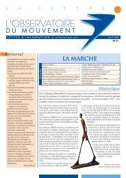 N° 11 La Marche - Observatoire du Mouvement