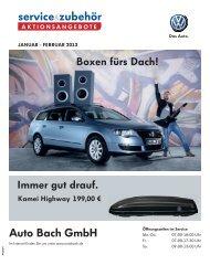 Immer gut drauf. Boxen fürs Dach! - Auto Bach GmbH