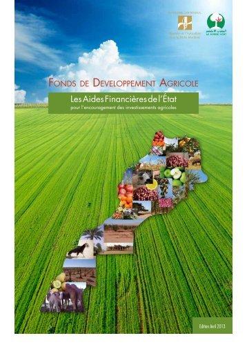 Lien pdf - Ministère de l'agriculture et de la pêche maritime