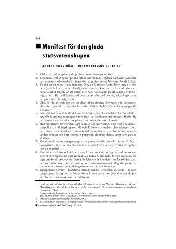 Manifest för den glada statsvetenskapen - Mothugg