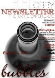 The Lobby Newsletter Taste Experience Edition. - The Richard ...