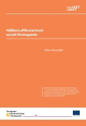Hållbara affärsval inom socialt företagande - Sofisam