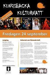 Fredagen 24 september - Kungsbacka kommun