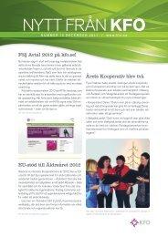 Nytt från KFO nr 10 - Arbetsgivarföreningen KFO