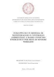 Sistema di monitoraggio e controllo ambientale - Automatica ...