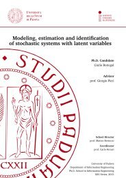 Modeling, estimation and identification of stochastic ... - Automatica