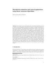 Distributed estimation and control applications using ... - Automatica
