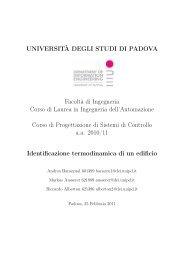 UNIVERSITÀ DEGLI STUDI DI PADOVA Facoltà di Ingegneria ...