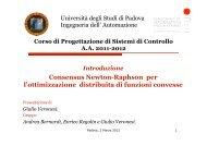 Enrico Regolin - Automatica - Università degli Studi di Padova