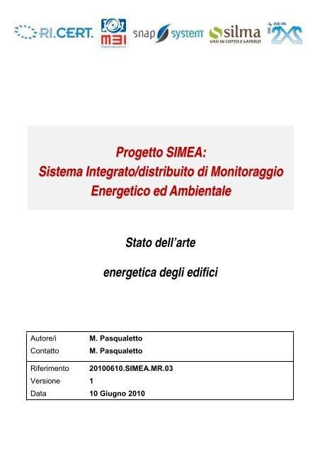 Progetto SIMEA - Automatica - Università degli Studi di Padova