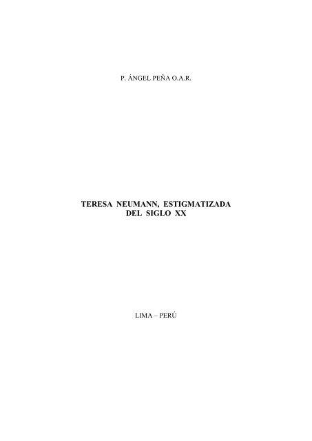teresa neumann, estigmatizada del siglo xx - Autores Catolicos