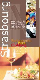 Pour vos envies de dîner - Strasbourg