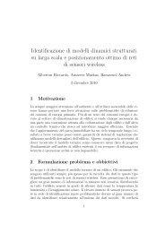 Identificazione di modelli dinamici strutturati su larga ... - Automatica
