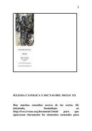 IGLESIA CATOLICA Y SECTAS DEL SIGLO XX - Autores Catolicos