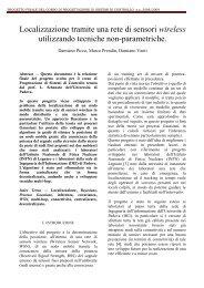 PROGETTO FINALE DEL CORSO DI ... - Automatica