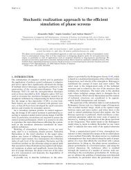 Stochastic realization approach to the efficient ... - Optics InfoBase
