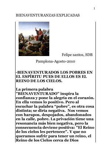 BIENAVENTURANZAS EXPLICADAS - Autores Catolicos