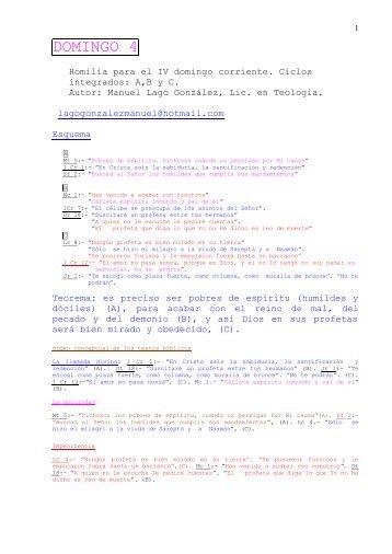 DOMINGO 4 - Autores Catolicos