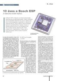 10 éves a Bosch ESP - Autótechnika