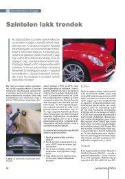 Színtelen lakk trendek - Autótechnika
