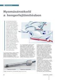 Nyomásérzékelő a hengerfejtömítésben - Autótechnika