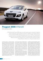 Peugeot 3008 HYbrid4 - Autótechnika
